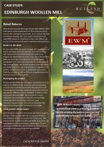 Case Study - Edinburgh Woollen Mill